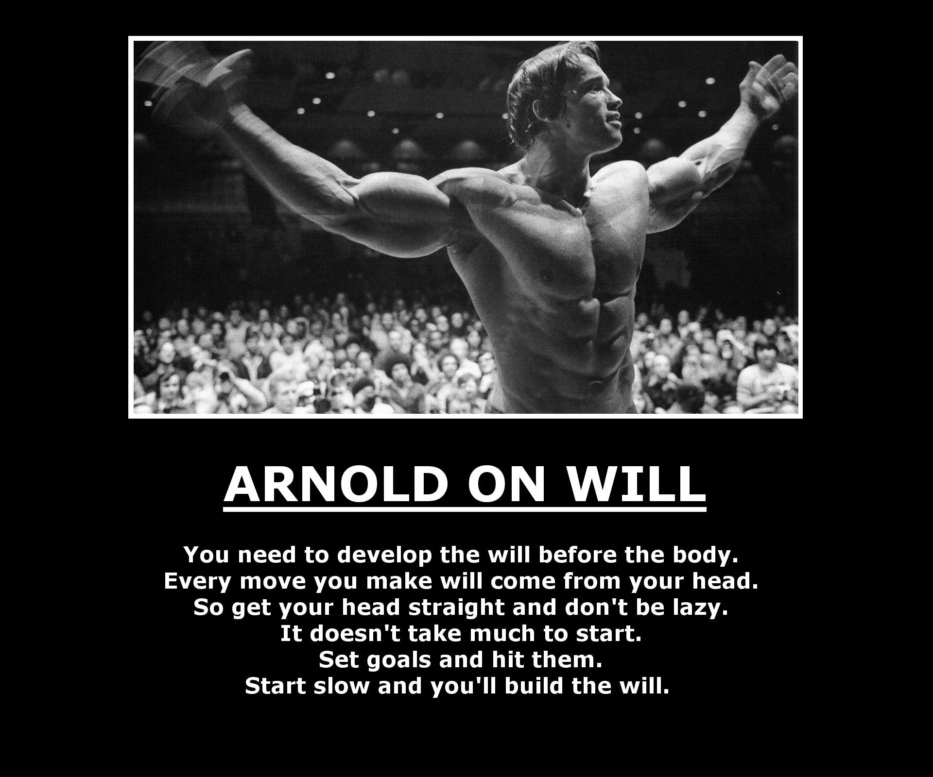[Image] Arnold Schwarzenegger on will