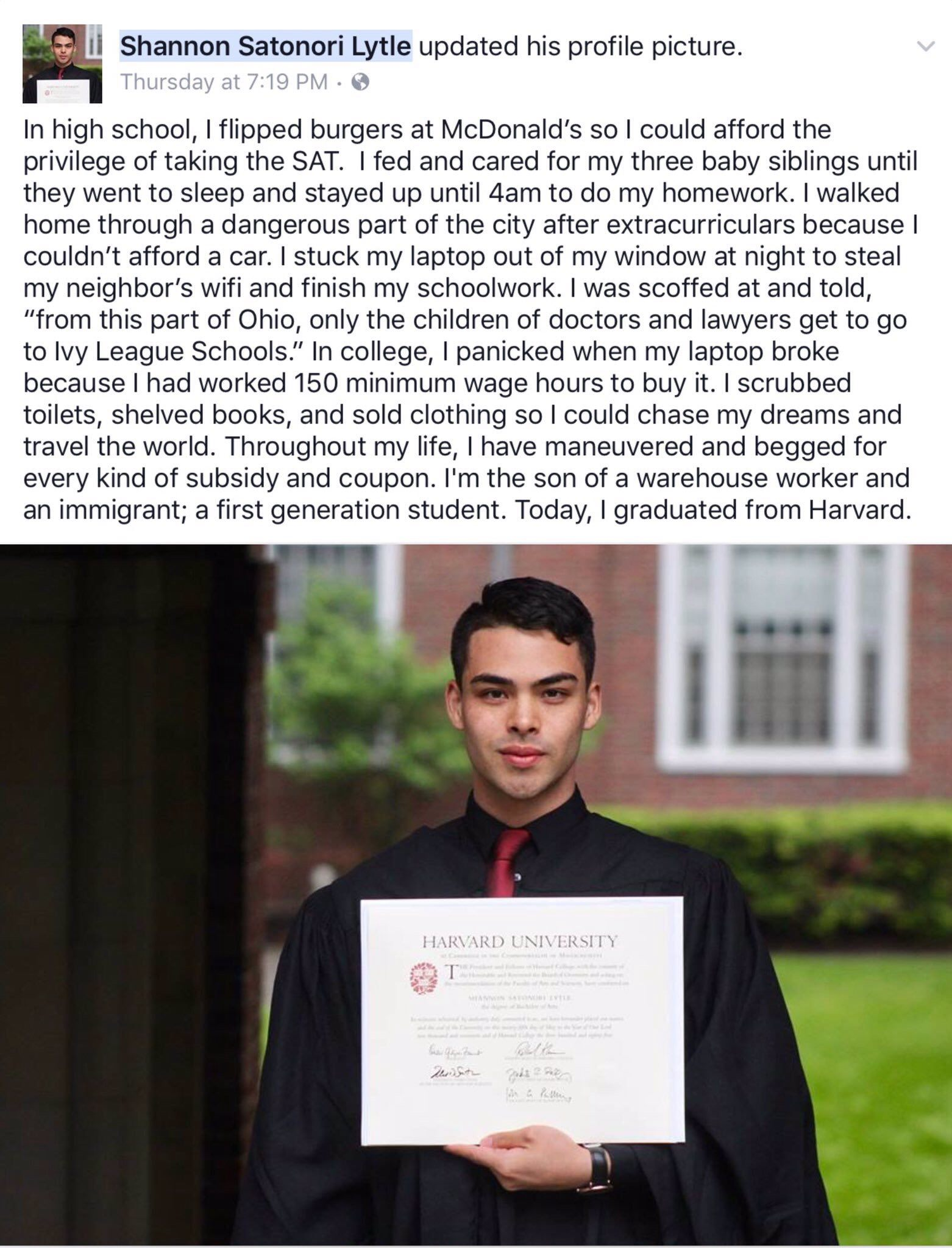 "[IMAGE] ""Despite Many Obstacles, He Could Graduate from Harvard"" (116)"