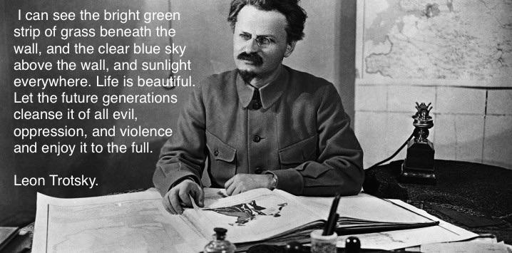 I can see the bright green strip of grass…… – Leon Trotsky [809 x 678]