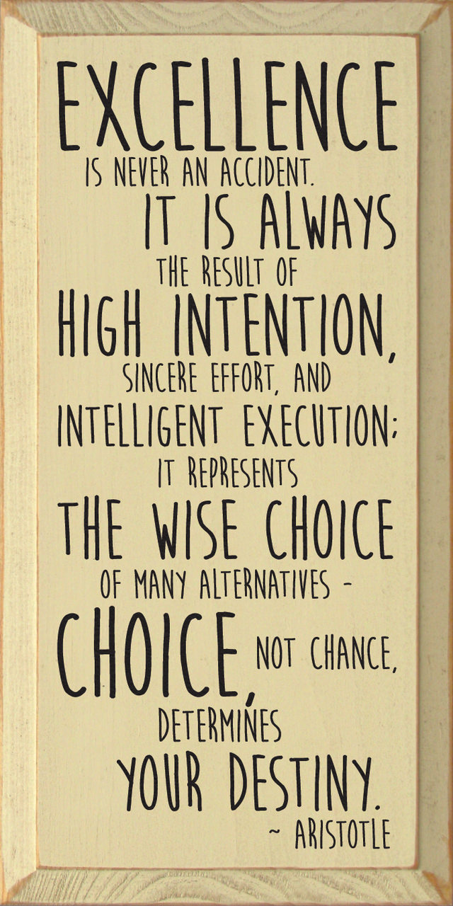 "[IMAGE] ""Excellence Is Never an Accident"" (81)"