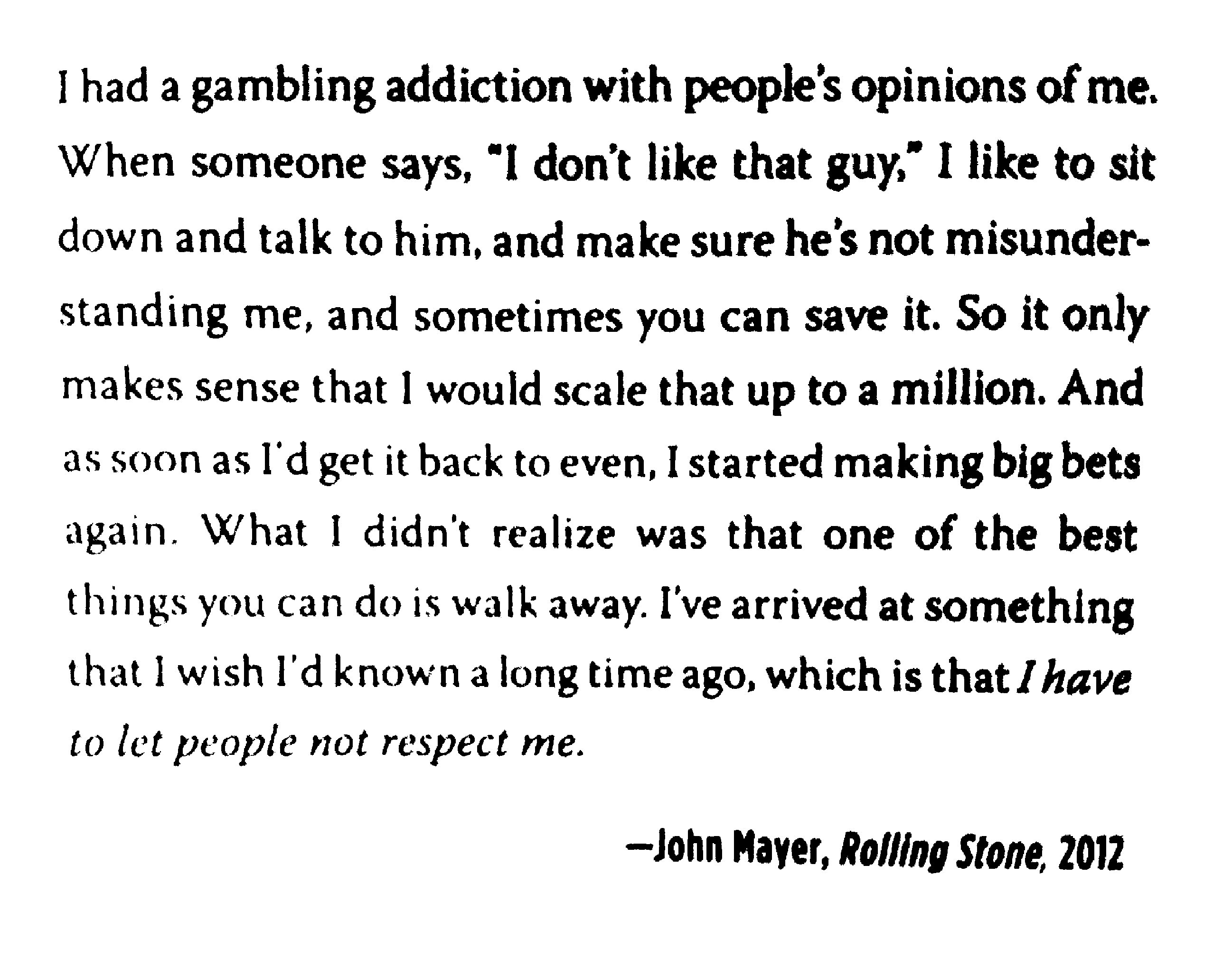 [Image] John Mayer on haters