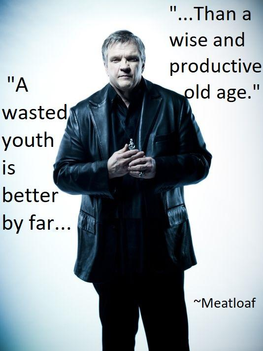 """A Wasted Youth…. – Meatloaf"" [534×712][OC]"