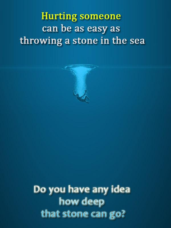 [Image] Do you have any idea how deep that stone can go?