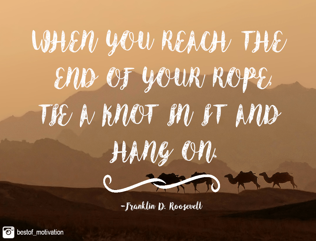 [Image] When you reach the end of your road…