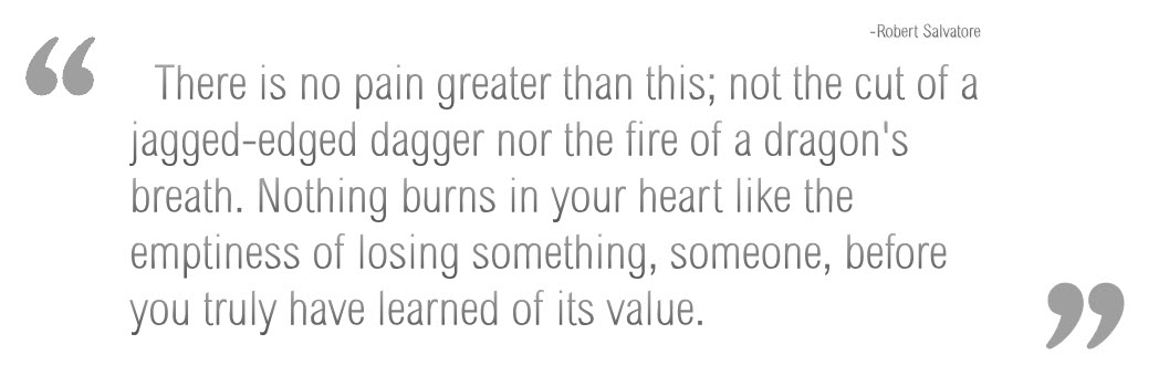 No pain greater than this; Robert Salvatore [1048×349]
