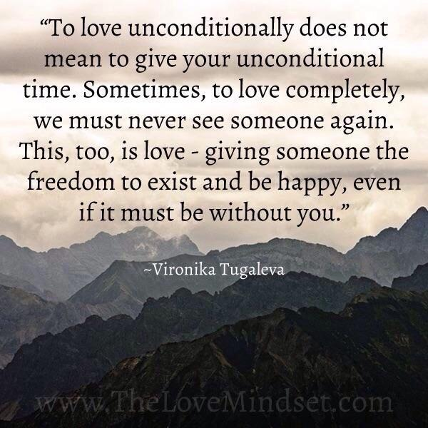 [Image] Sometimes our greater version lies on the other side of a Fear of living alone, so let go and Love unconditionally.
