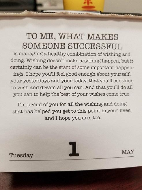[Image] Mr. Rogers dropping some wisdom and inspiration to bring in the new month