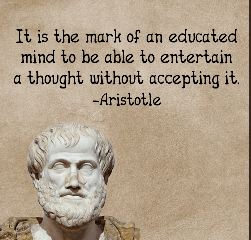 """It is the mark of an educated mind…"" – Aristotle [504 x 504]"