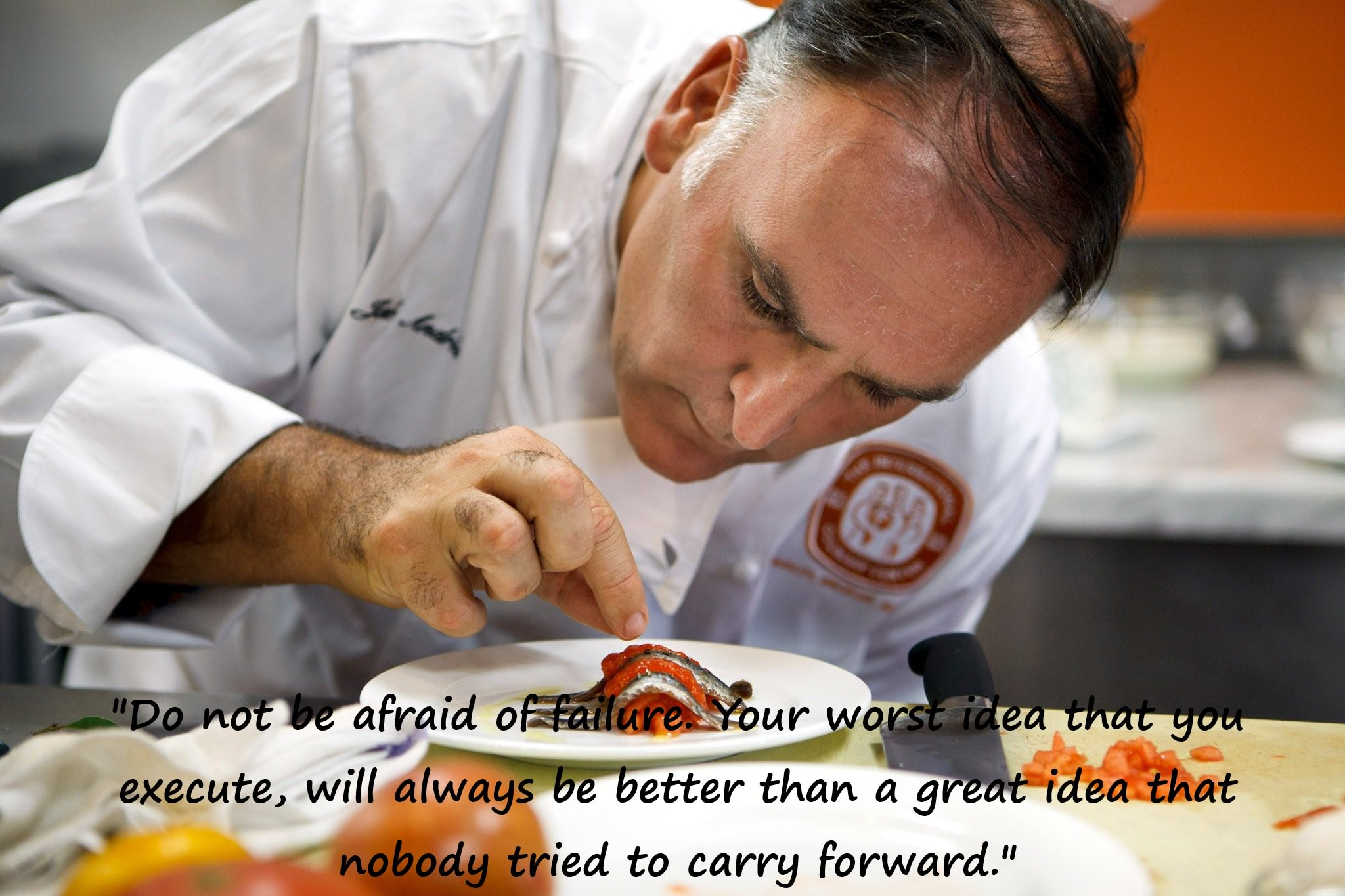 """Do not be afraid of failure. Your worst idea that you execute, will always be better than a great idea that nobody tried to carry forward."" – Jose Andres [1024 × 683] [OC]"