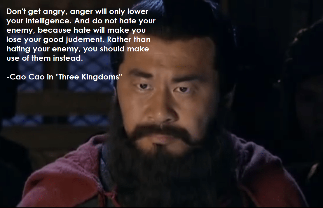 """Don't get angry…"" – Cao Cao [1107×712] [OC]"
