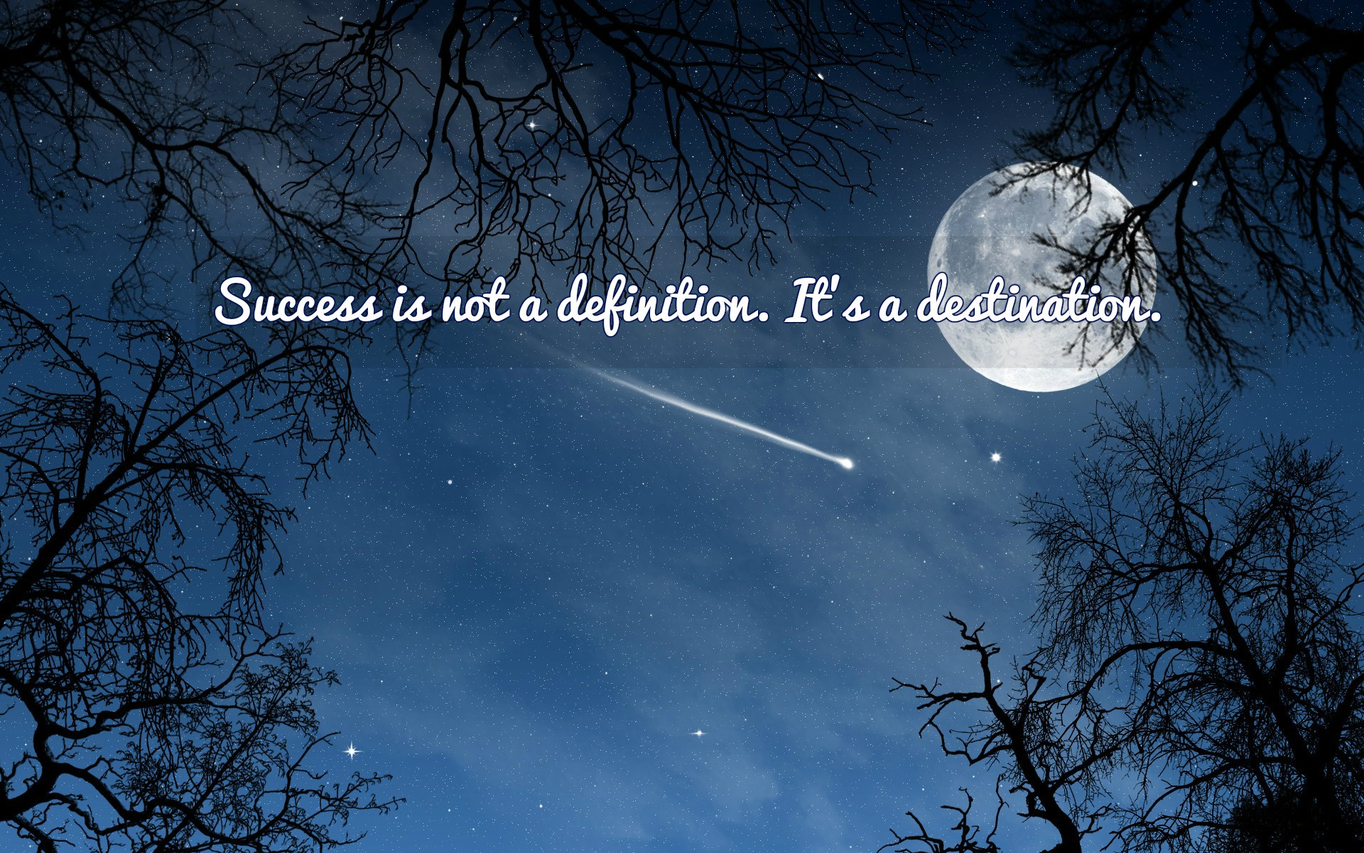 [Image] There is no definition of success