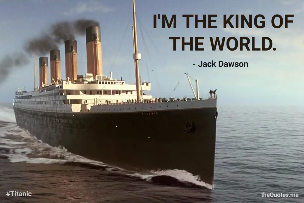 I'M THE KING OF THE WORLD! – Jack Dawson (Titanic) [1024×683] [OS] [OC]