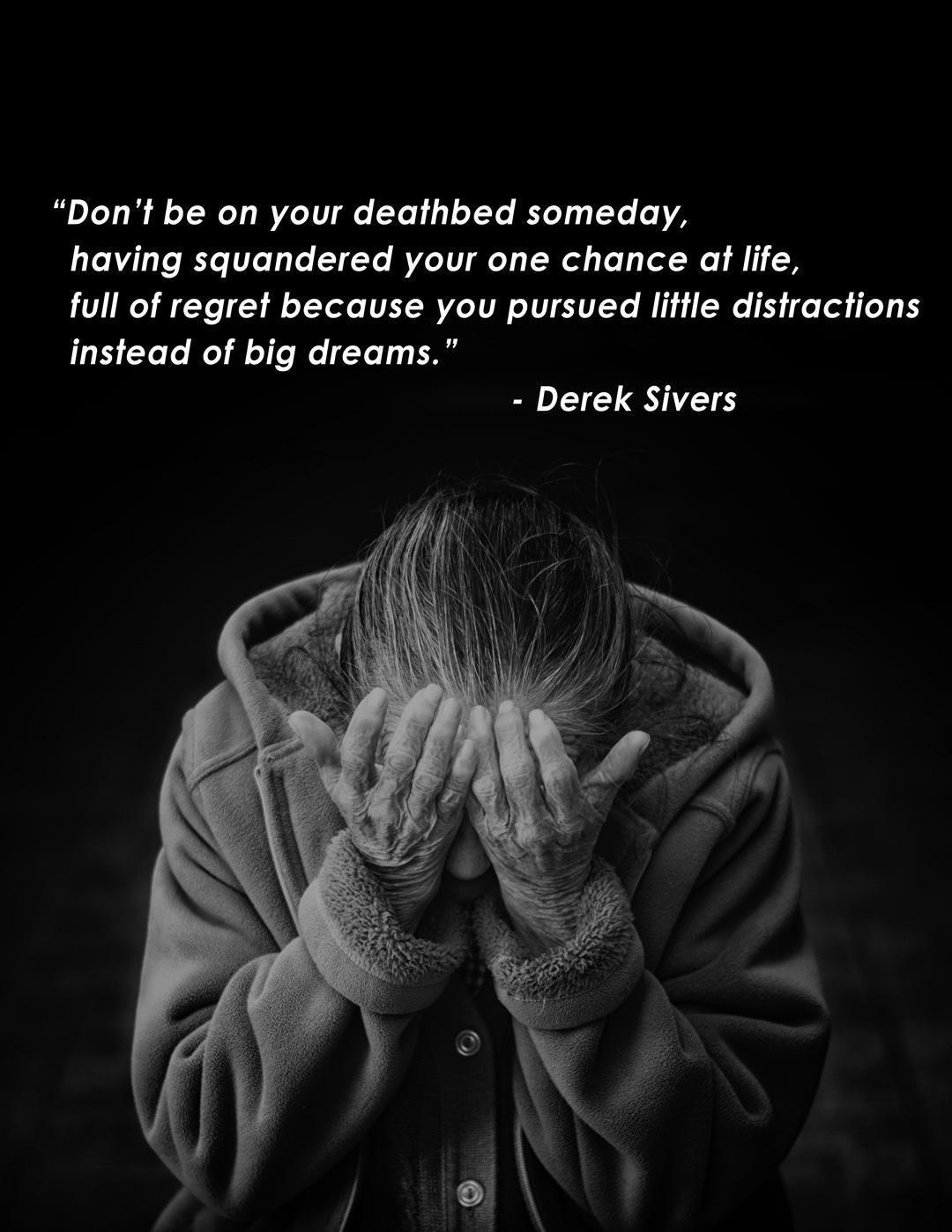 [Image] Don't pursue little distractions.