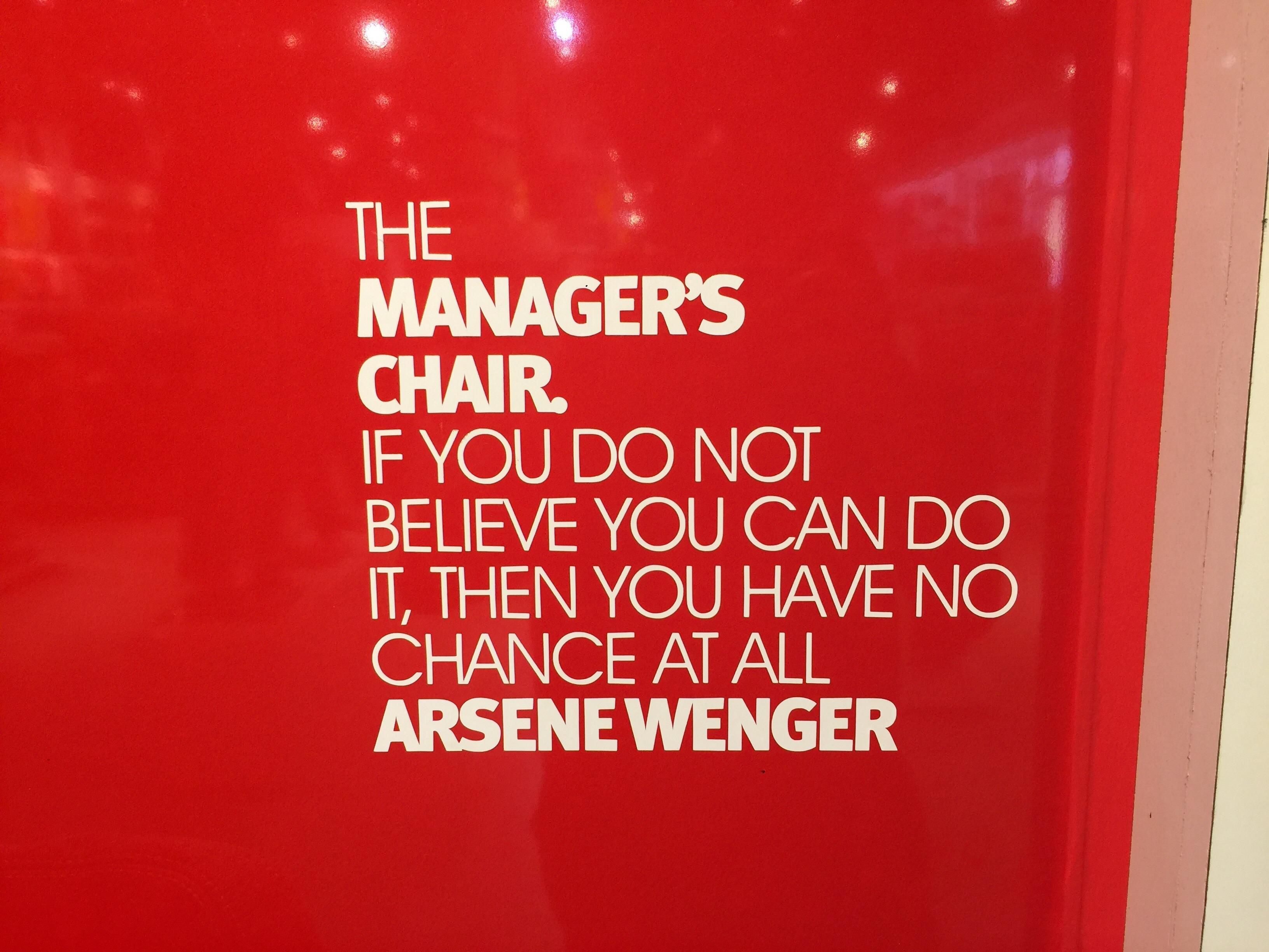 [image] saw this at the Emirates stadium