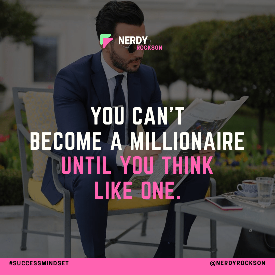 You can't become a millionaire until you think like one – Umit Obeyd [1080×1080]