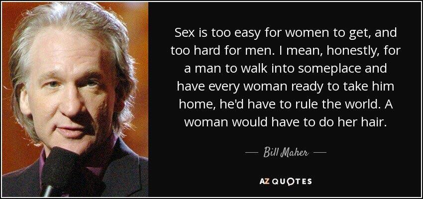 Bill Maher on men and women [765×910]