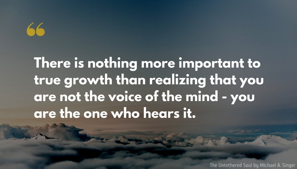 """There is nothing more important to true growth than…"" – Michael A. Singer [1007 × 572]"