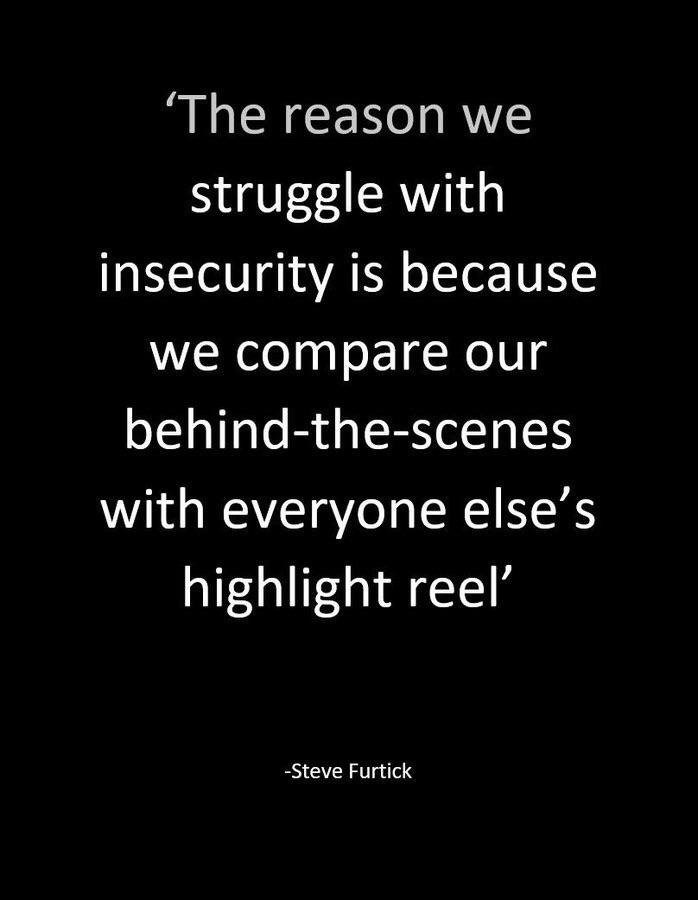 [Image] Fighting with our insecurities.