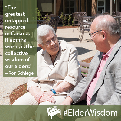 """Greatest untapped resource … #ElderWisdom"" – Ron Schlegel [400 x 400]"