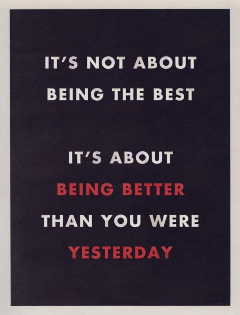 "[IMAGE] ""It's Not About Being the Best"" (125)"