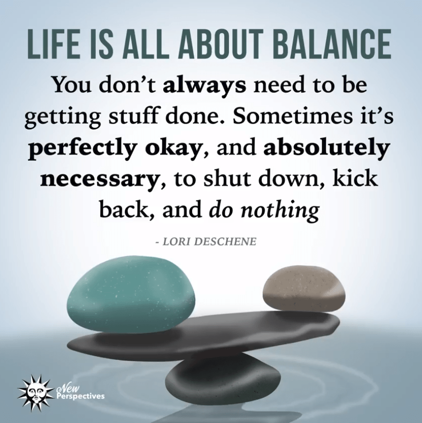 """Life is all about balance…"" -Lori Deschene [548×548]"