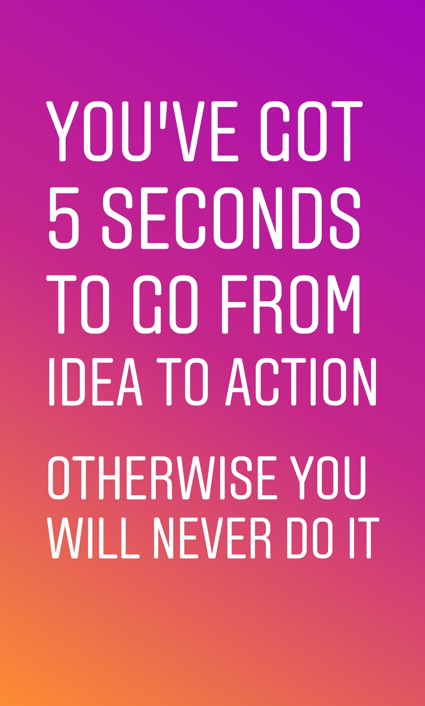 [Image] Take action now!