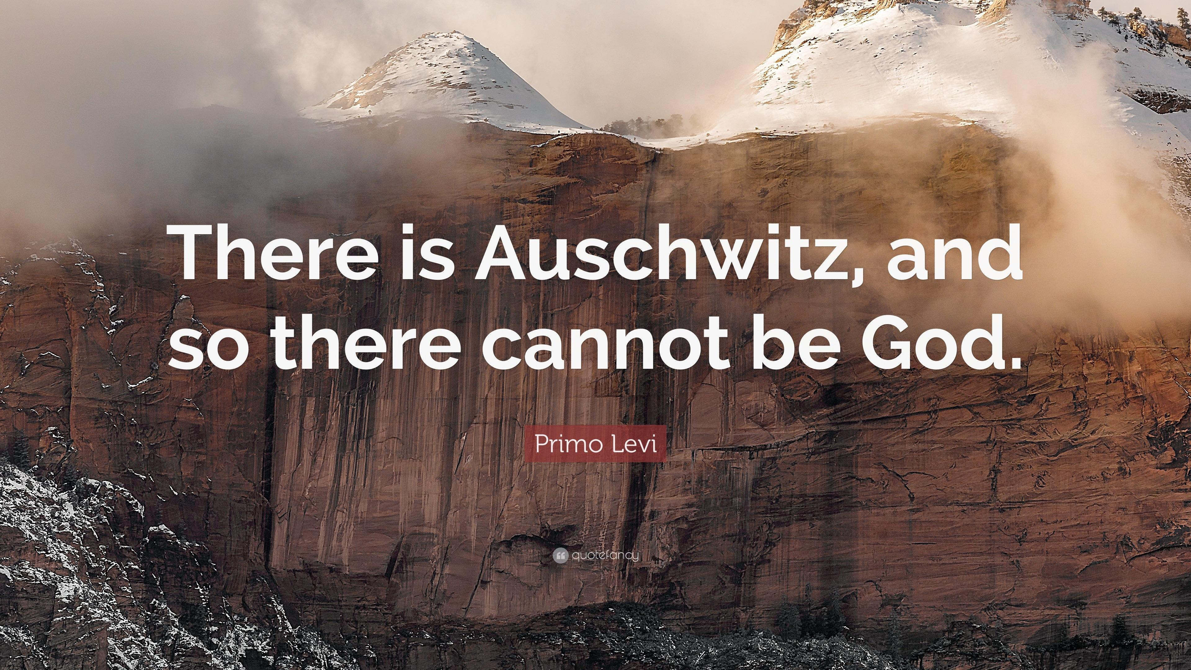 """There is Auschwitz, and so there cannot be God."" – Promo Levi [3840×2160]"