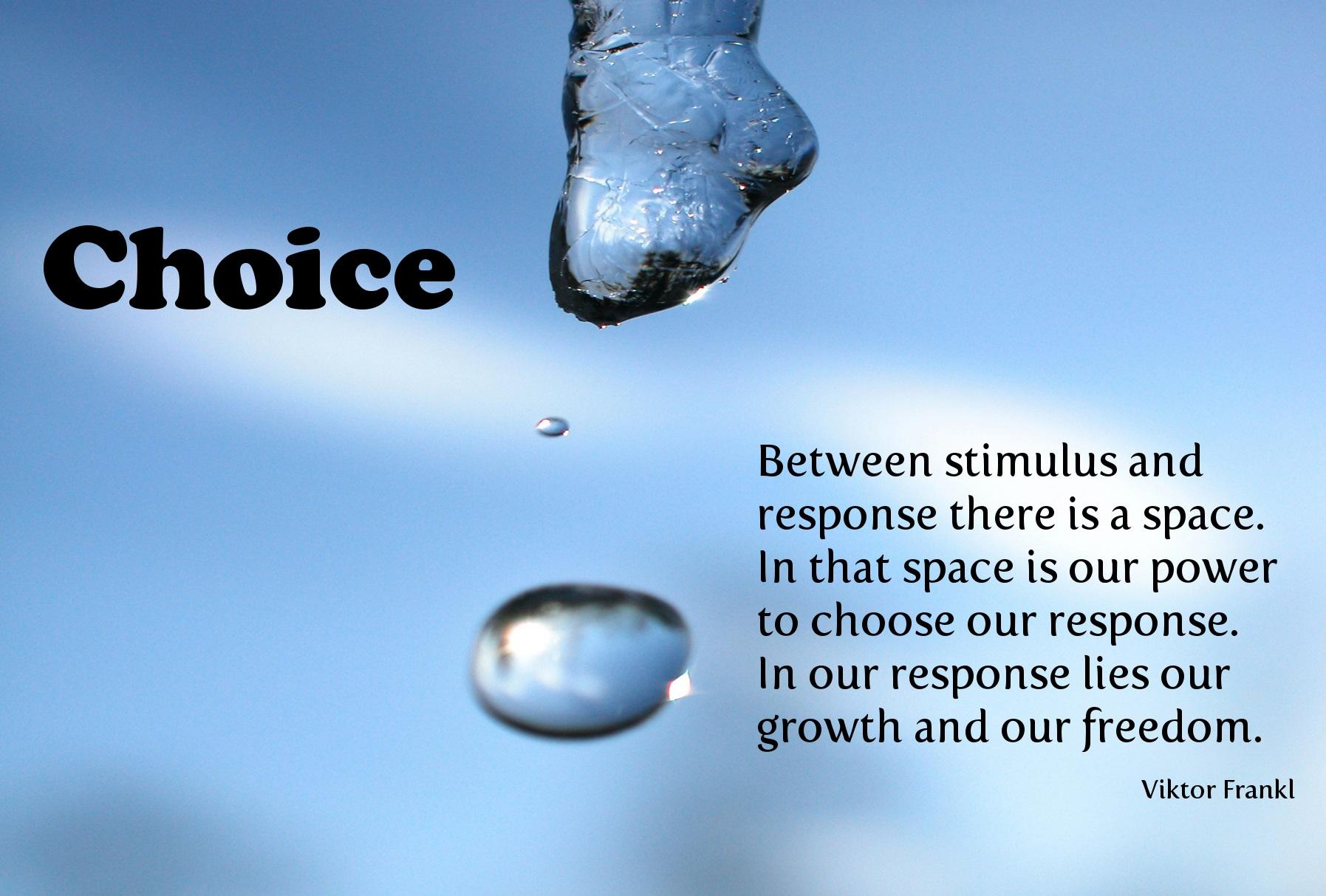 """Between stimulus and response there is a space…"" – Victor Frankl [1795 x 1213]"
