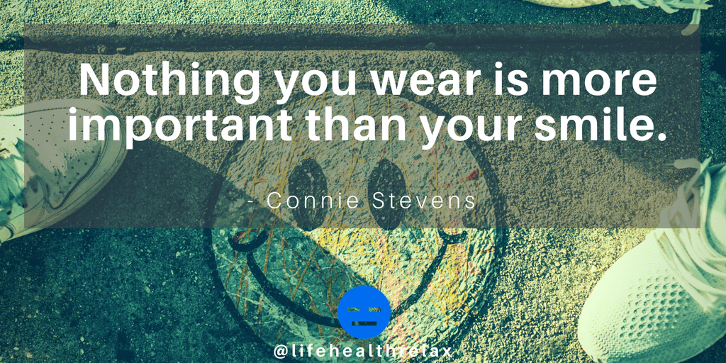 """Nothing you wear is more important than your smile. - Connie Stevens a J '. ' 13'3"""": -, ' """"rat I: . > V"""" 3 a"""" ('5 V L;& E? .. ' 45""""}. """" . 1' c - ' _ 1 3' .' 2. To ' """"_', ' ' https://inspirational.ly"""