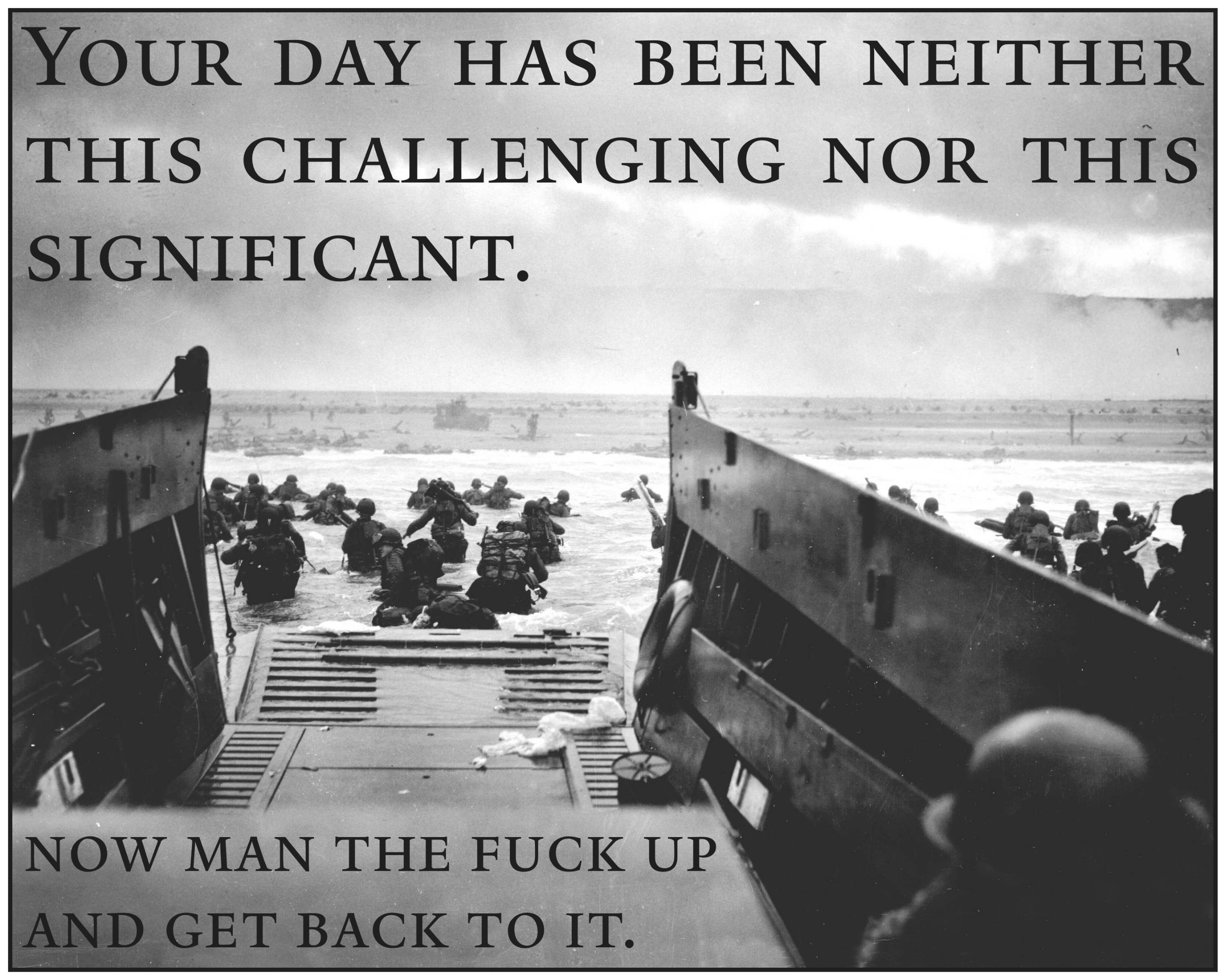 [Image] In honor of D-Day, this is the image that's framed & on my desk.
