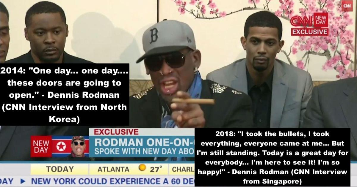 "[Image] ""I'm here to see it! I'm so happy!"" – Dennis Rodman"