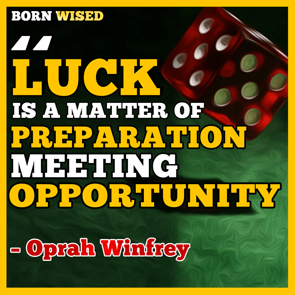 Luck is matter of Preparation meeting opportunity – Oprah Winfrey [960×960] [OC]