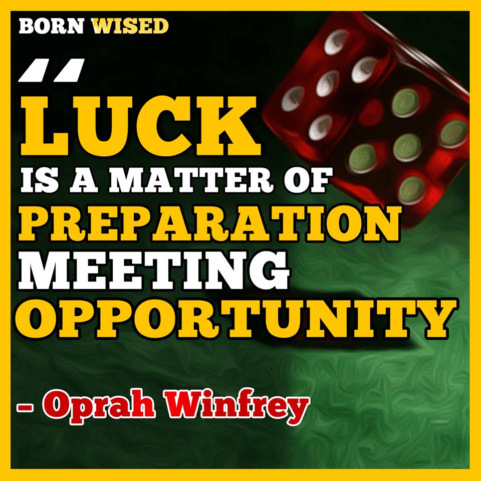 Luck is matter of Preparation meeting opportunity – Oprah Winfrey [960×960] [OC]