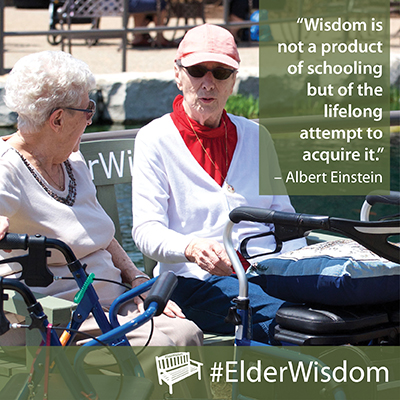 """Wisdom is not a product of schooling …"" Albert Einstein #ElderWisdom [400×400]"