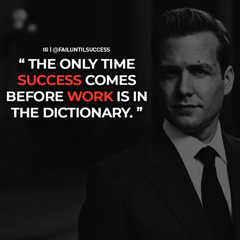 """The only time success comes before work is in the dictionary"" – Harvey Specter (512×512)"