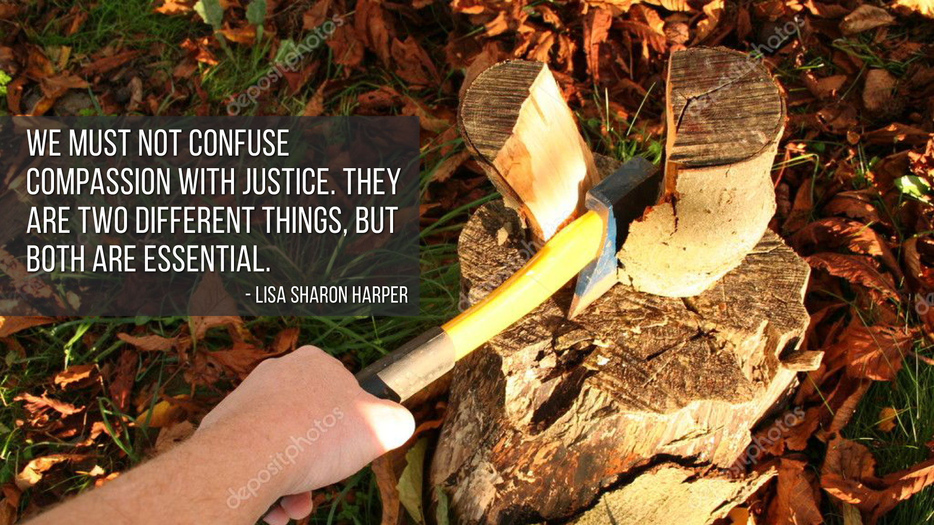 """We must not confuse compassion with justice…"" – Lisa Sharon Harper [1920 x 1080]"