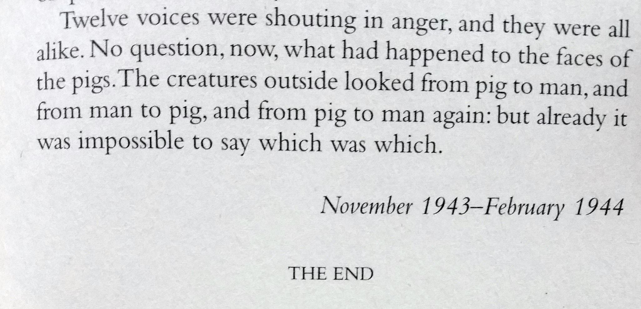 Animal Farm: George Orwell. [2051×988]