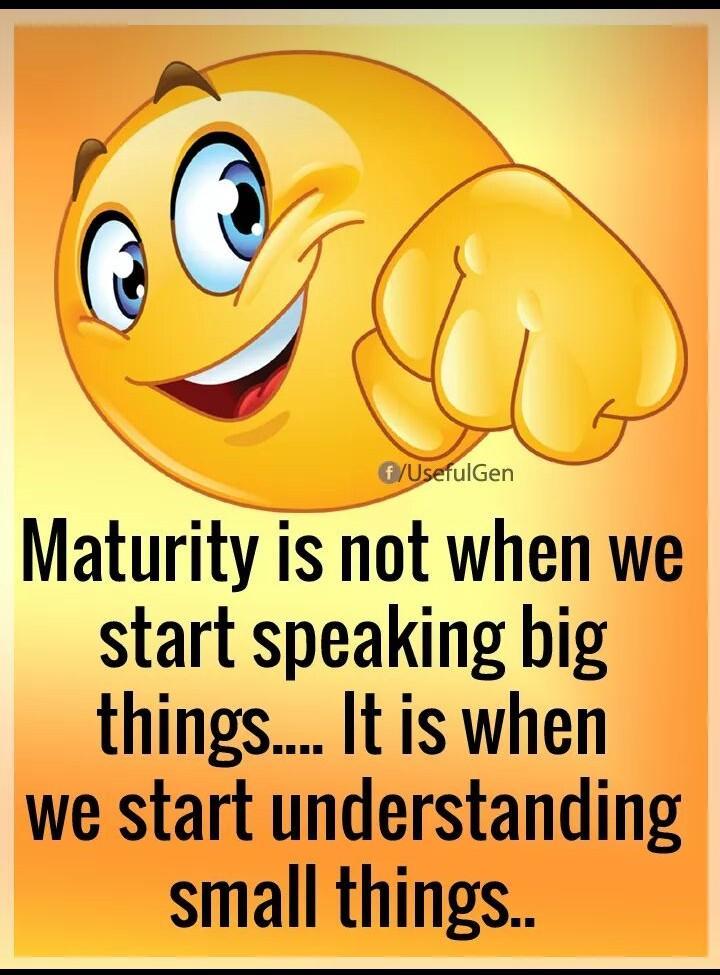[Image] Understanding is key to Maturity