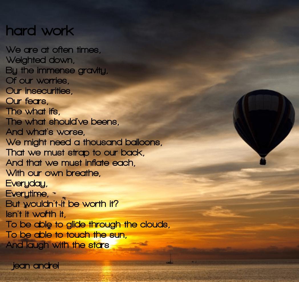 [Image] hard work