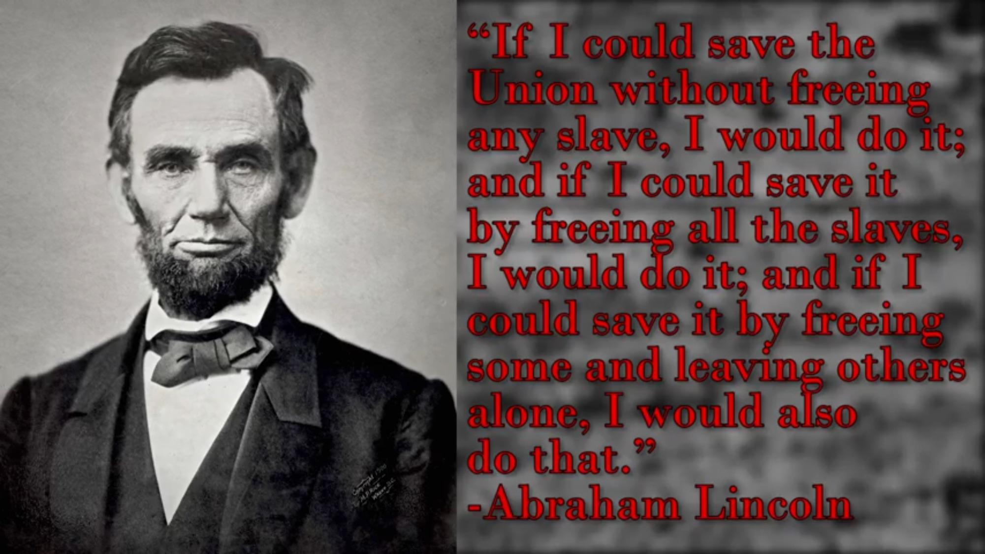 """If I could save the union…"" -Abraham Lincoln [1920×1080]."