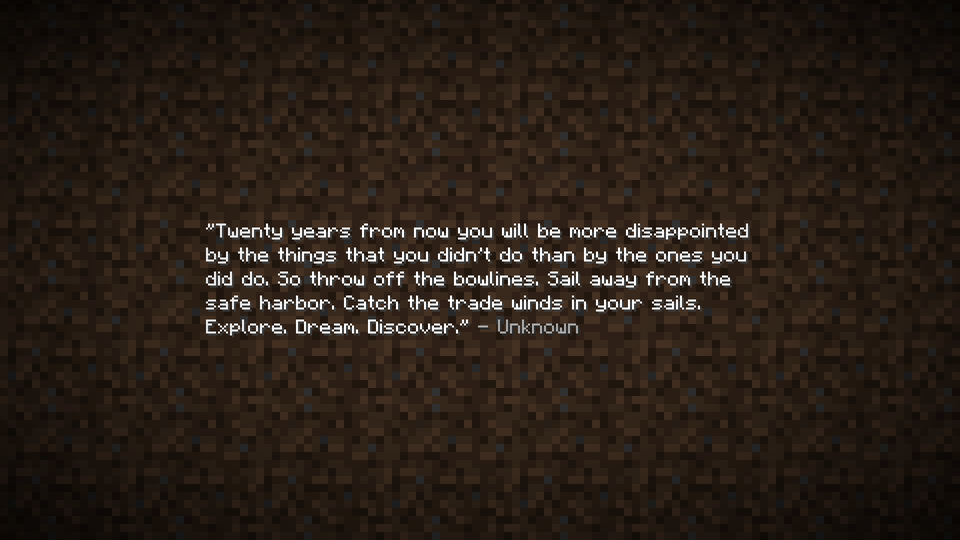 [Image] This quote from Minecraft