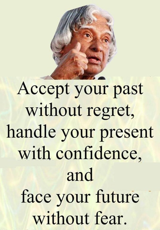 [Image] Accept your past, handle your present and face your future