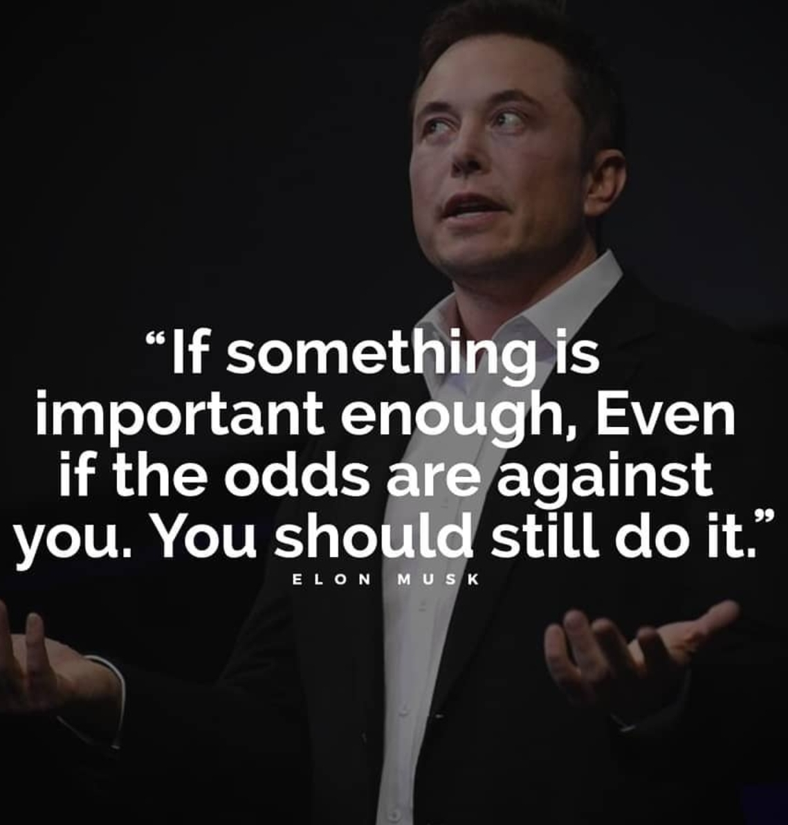 [Image] Inspiring words from Elon