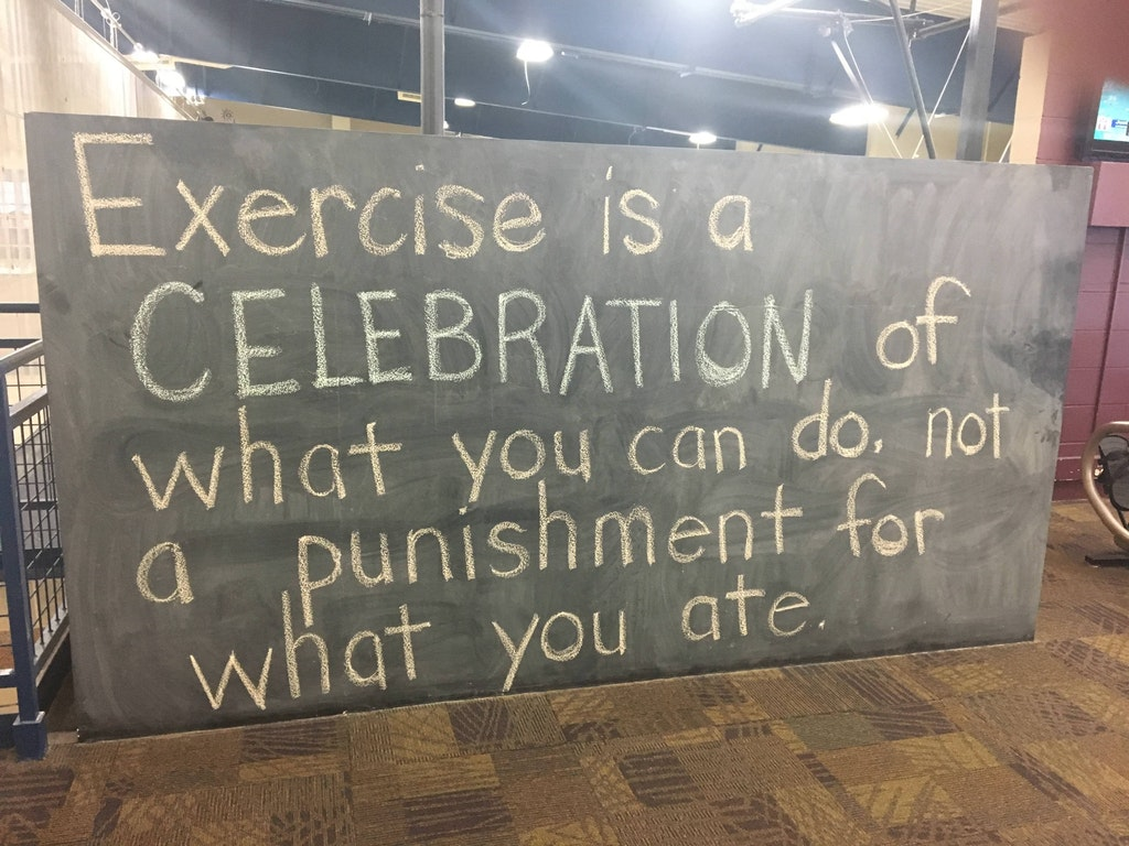 [Image] exercise is a celebration of what you can do