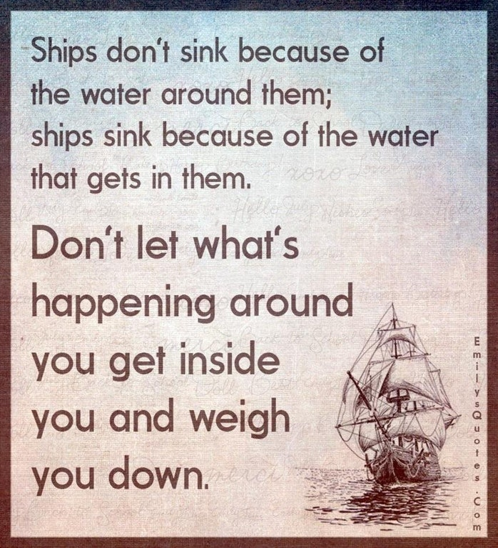 [Image] Don't let anything weigh you down