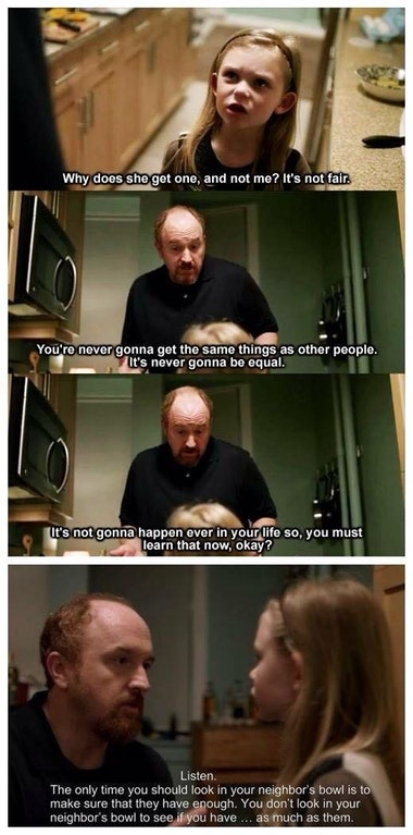 [Image] Great words from the great Louis C.K.