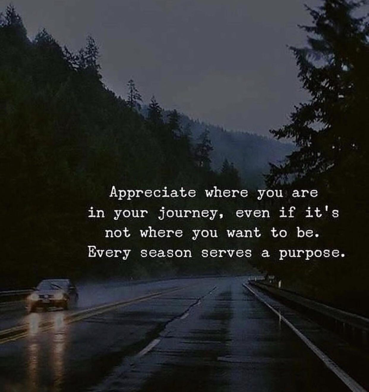 [Image] Appreciate where you are…