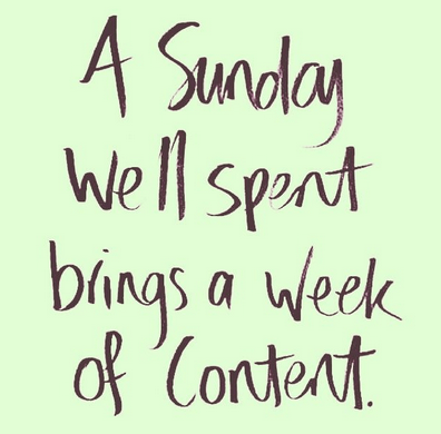 A Sunday well spent brings a week of content. Can't wait for it. <3