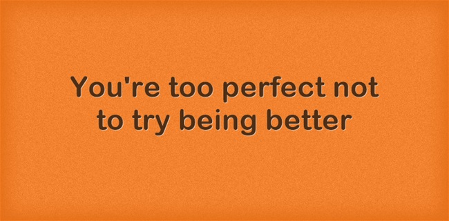 [Image] Too Perfect