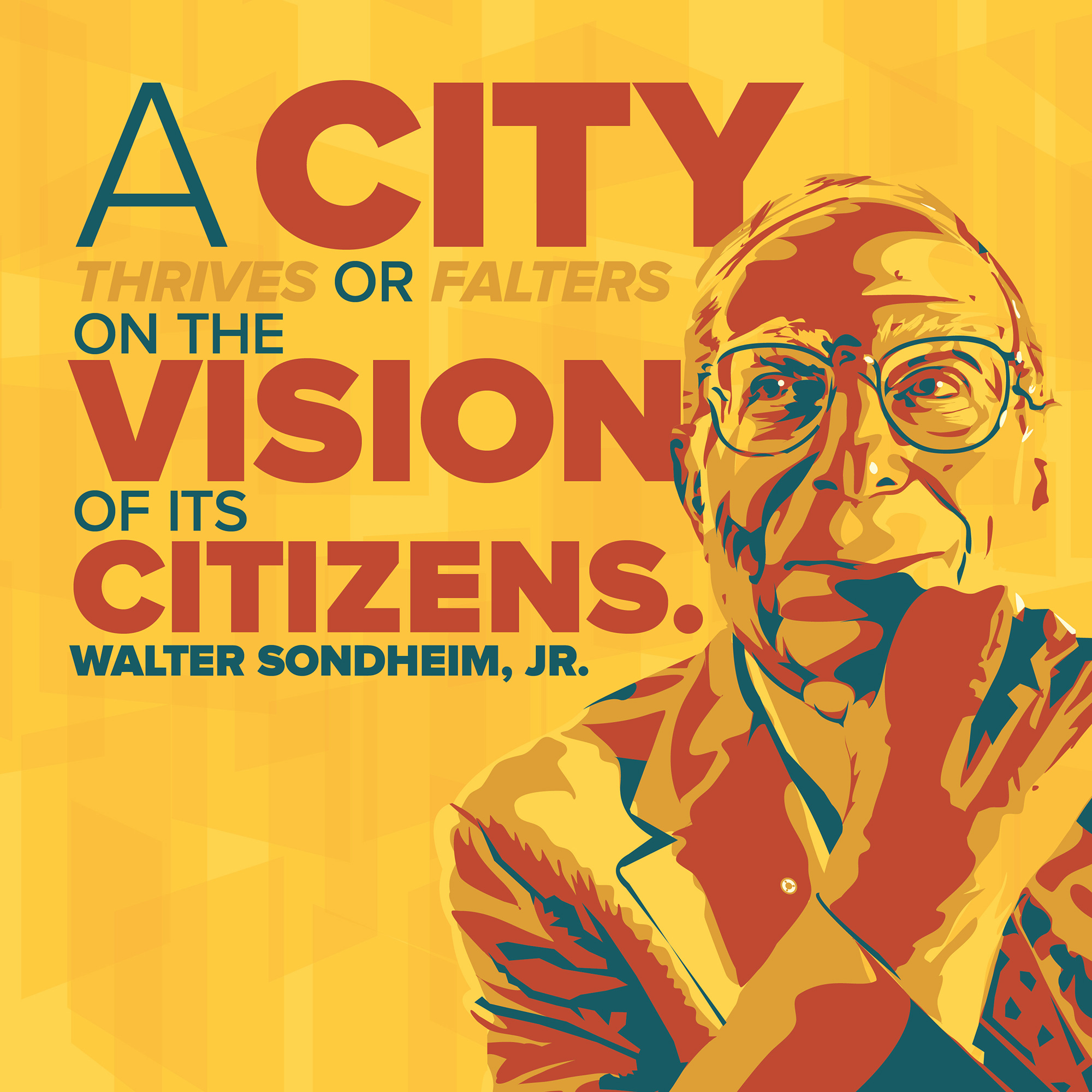 """A city thrives or falters on the vision of its citizens."" – Walter Sondheim, Jr. [2000×2000] [OC] [OS]"
